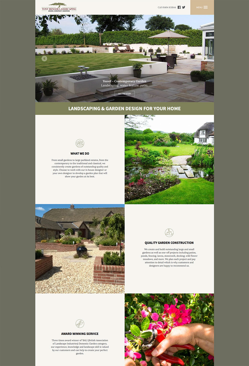 Award Winning Landscape Design, Build And Maintenance Company, Tony Benger  Landscaping, Commissioned Us To Design A New Website To Show Off Their ...