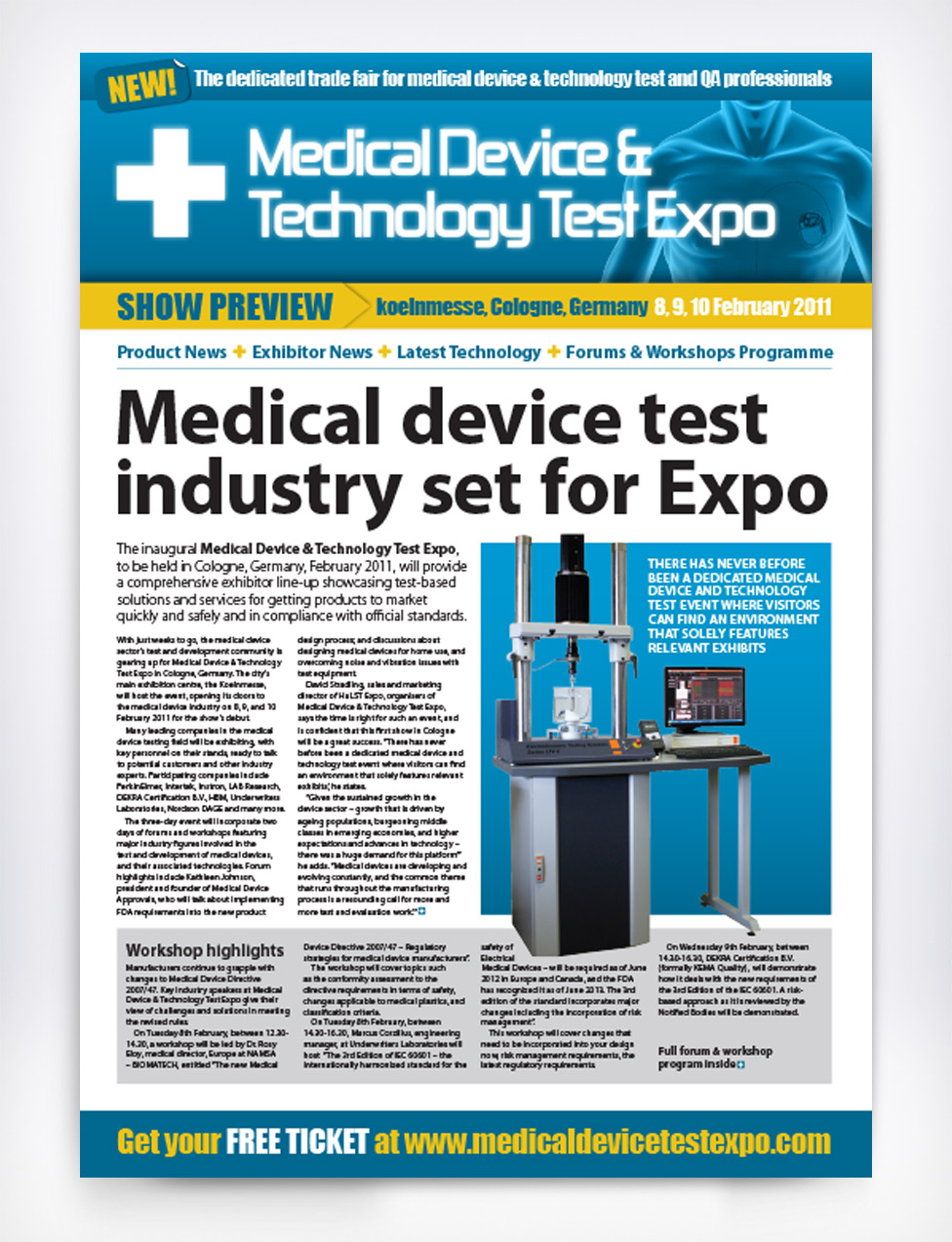Medical Device & Technology Test Expo Show Preview Paper