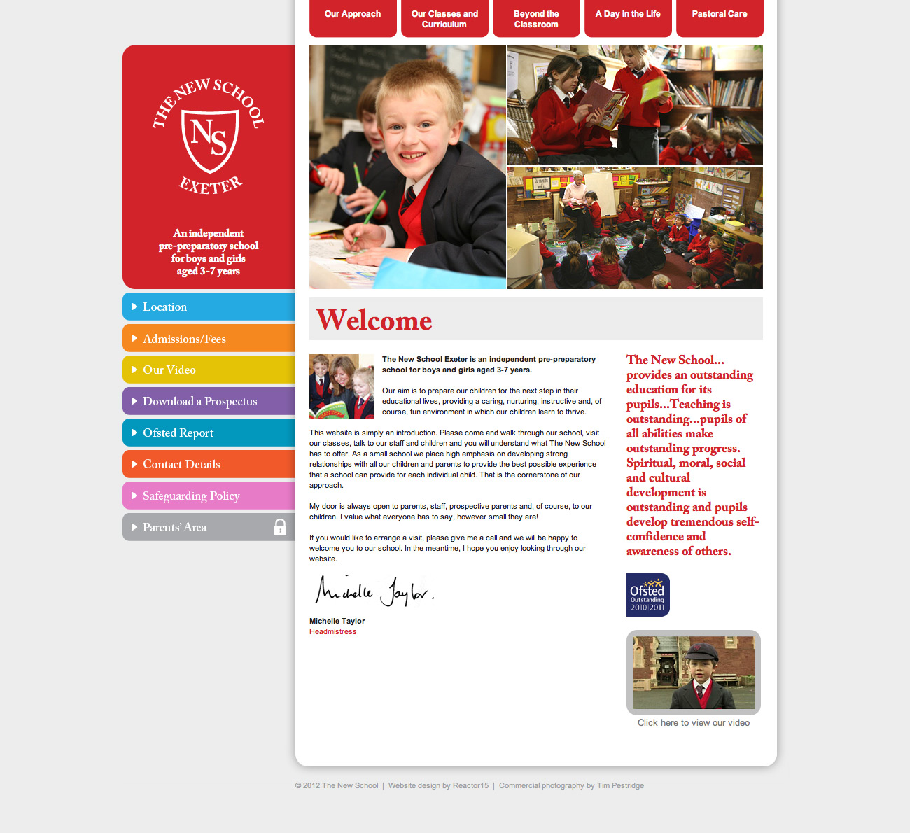The New School Exeter Website Home Page