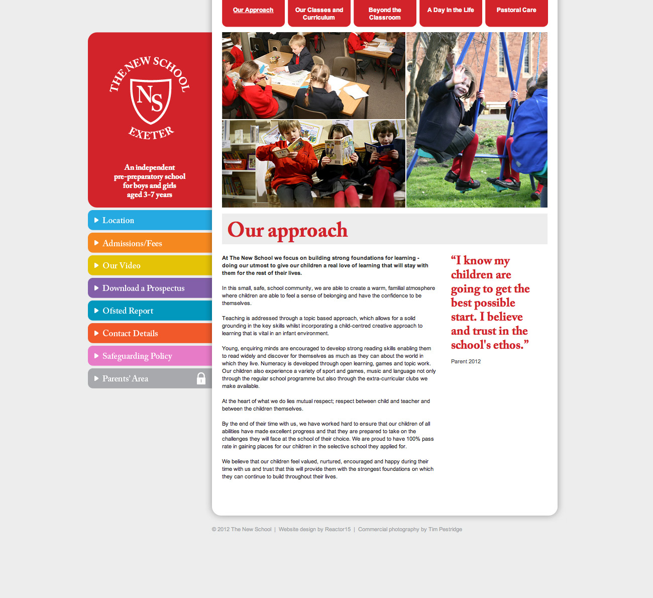 The New School Exeter Website Our Approach Page