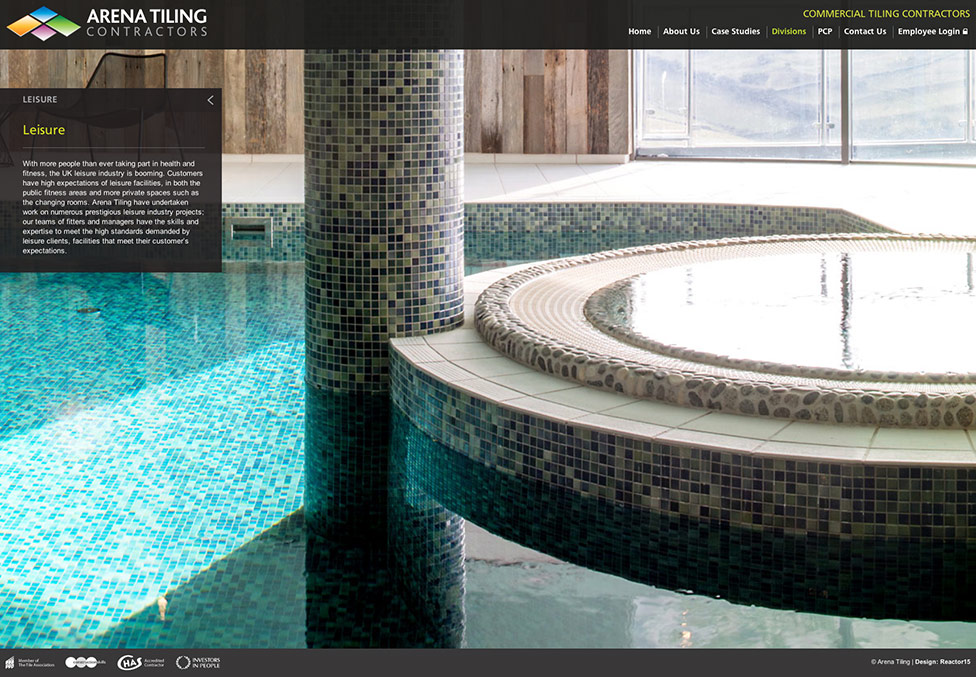 Tiling Website Leisure Page