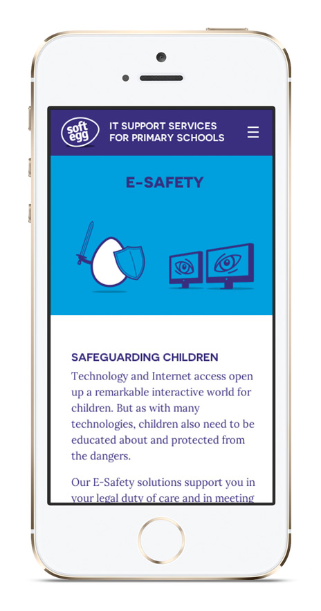 Soft Egg Mobile E-Safety Page