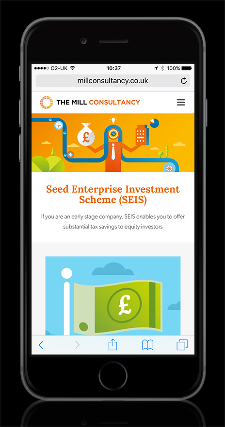 The mill Consultancy SEIS Page Screen