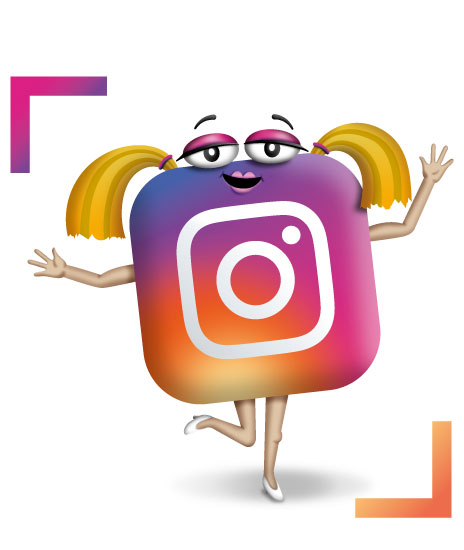 The Social Media Lab Instagram Character