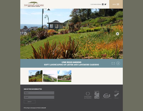 Tony Benger Landscaping Website Our Work Pages