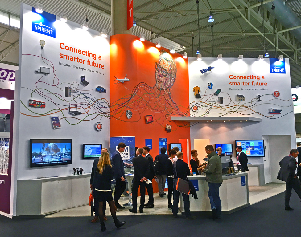 Spirent Communications Mobile World Congress Stand 2016